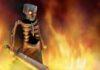 Wallpaper Minecraft : Witcher Skeleton On Fier