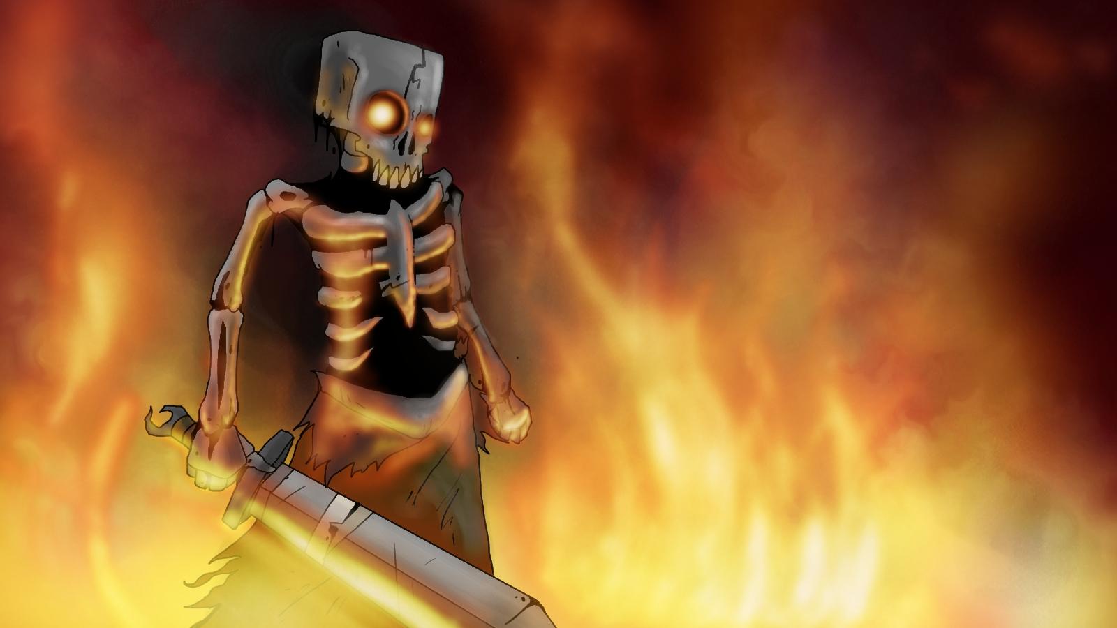Witcher Skeleton On Fier