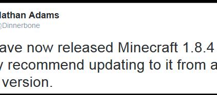 อัพเดทแล้ว! บัคระบบป้องกัน minecraft1.8.4