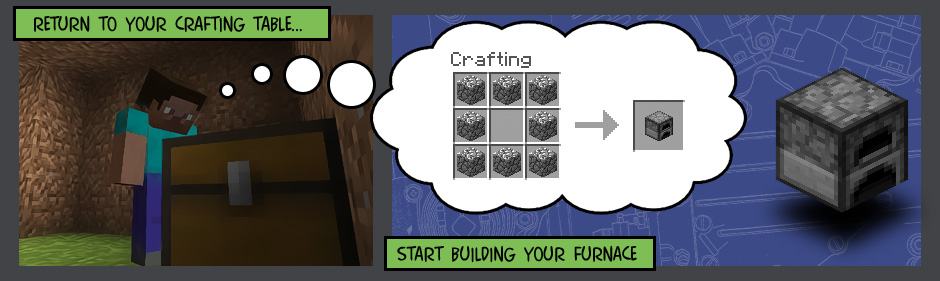 как сделать печь в майнкрафте #2