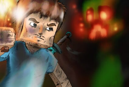 Creepy in the darkness : Wallpaper Minecraft