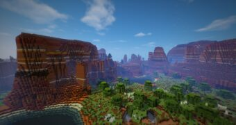 mesa biomes sky view Wallpaper